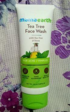 Mamaearth Tea Tree Face Wash Review