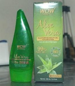 WOW Skin Science Aloe vera Gel packaging