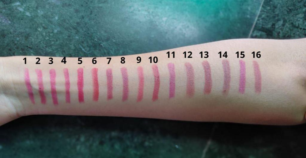 Just herbs mini Lipstick Swatches