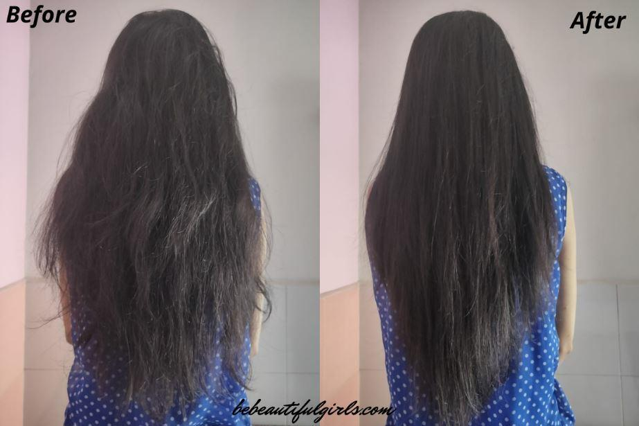 Vega Hair Straightener before and after