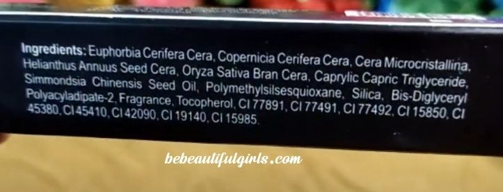Renee Fab 5 in 1 Lipstick ingredients