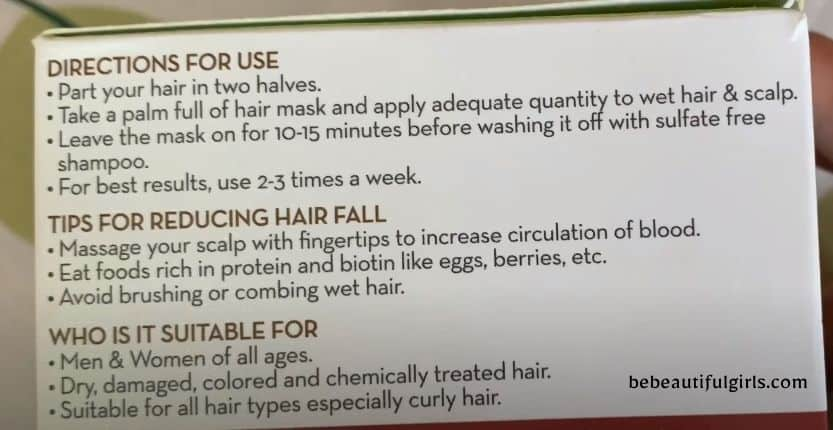Mamaearth Onion hair Mask how to use