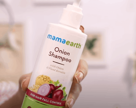 Mamaearth onion hair fall control shampoo Review